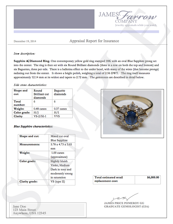 where to get jewelry appraised for free best jewelry appraisal form template images gt gt performance 2294